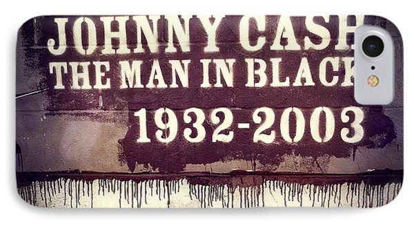 Johnny Cash Memorial IPhone Case by Dan Sproul
