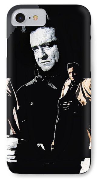 IPhone Case featuring the photograph Johnny Cash Multiples  Trench Coat Sitting Collage 1971-2008 by David Lee Guss