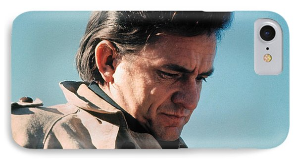 IPhone Case featuring the photograph Johnny Cash  Music Homage Ballad Of Ira Hayes Old Tucson Arizona 1971 by David Lee Guss
