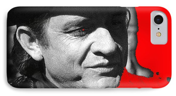 IPhone Case featuring the photograph Johnny Cash Music Homage Ring Of Fire Old Tucson Arizona 1971 by David Lee Guss