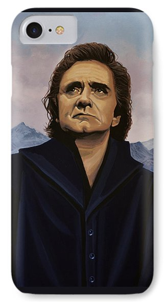 Johnny Cash Painting IPhone 7 Case by Paul Meijering