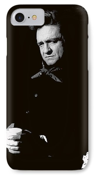 IPhone Case featuring the photograph Johnny Cash Sitting With Cup  Old Tucson Arizona 1971-2009 by David Lee Guss