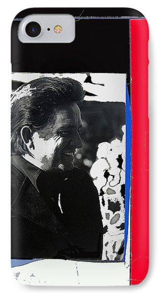 IPhone Case featuring the photograph Johnny Cash  Smiling Collage 1971-2008 by David Lee Guss