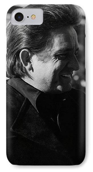 IPhone Case featuring the photograph Johnny Cash Smiling Old Tucson Arizona 1971 by David Lee Guss