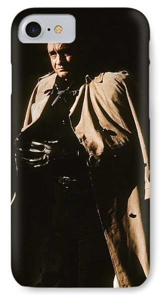 IPhone Case featuring the photograph Johnny Cash Trench Coat Variation  Old Tucson Arizona 1971 by David Lee Guss