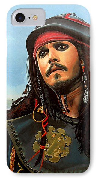 Sparrow iPhone 7 Case - Johnny Depp As Jack Sparrow by Paul Meijering