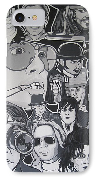 Johnny Depp Character Tribute Phone Case by Gary Niles