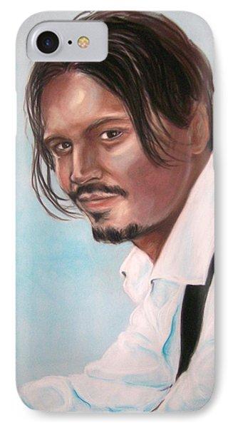 Johnny Depp IPhone Case by Martha Suhocke