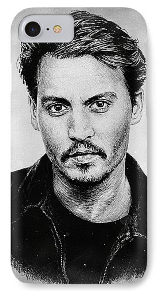 Johnny Depp Stained IPhone Case by Andrew Read