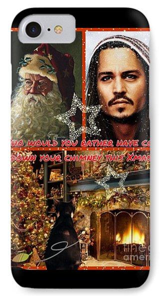 Johnny Depp Xmas Greeting IPhone Case