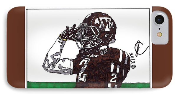 Johnny Manziel The Salute IPhone Case by Jeremiah Colley