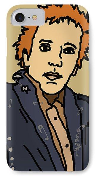 Johnny Rotten Phone Case by Jera Sky