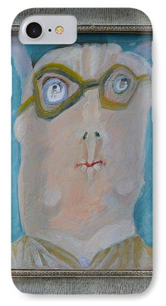 John's Dad Seeing Babies Born - Framed Phone Case by Nancy Mauerman