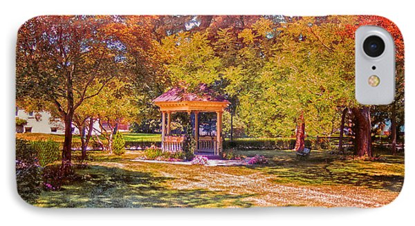 Join Me In The Gazebo On This Beautiful Autumn Day Phone Case by Thomas Woolworth