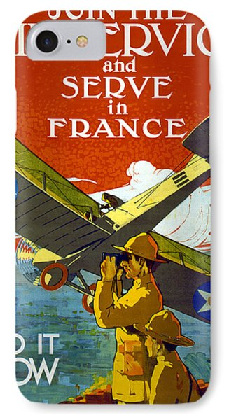Join The Air Service, 1917 IPhone Case by J. Paul Verrees