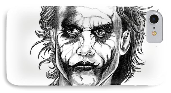 The joker drawing why so serious