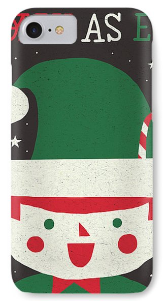 Jolly Holiday Elf IPhone Case by Michael Mullan