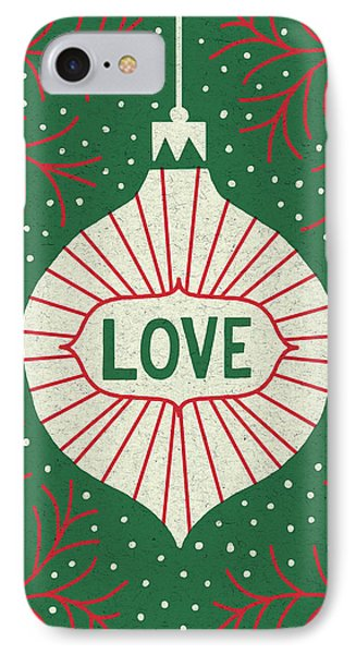 Jolly Holiday Ornaments Love IPhone Case by Michael Mullan