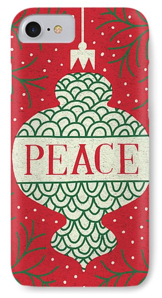 Jolly Holiday Ornaments Peace IPhone Case by Michael Mullan