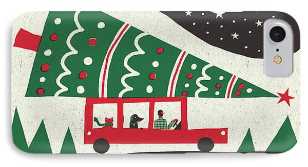 Jolly Holiday Tree IPhone Case by Michael Mullan