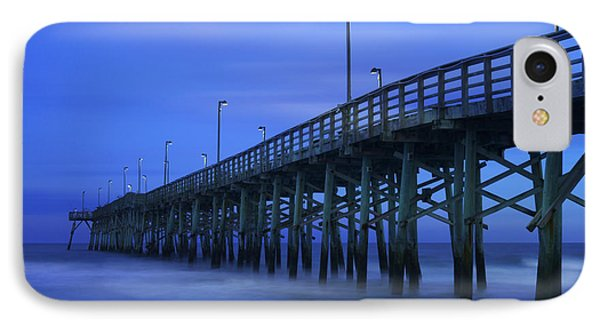 Jolly Roger Pier After Sunset IPhone Case by Mike McGlothlen