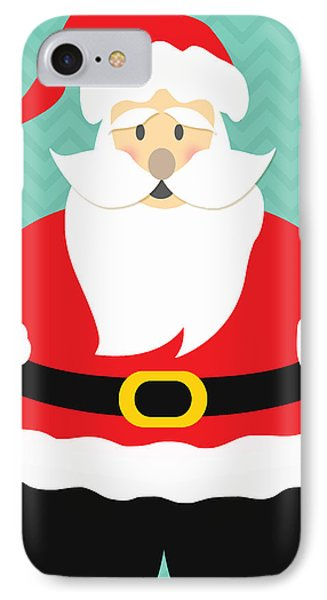 Jolly Santa Claus IPhone Case by Linda Woods