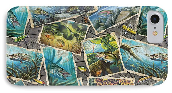 Jon Q Wright Fish Paintings Pillow IPhone Case by Jon Q Wright