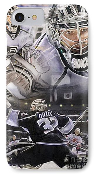 Jonathan Quick Collage Phone Case by Mike Oulton