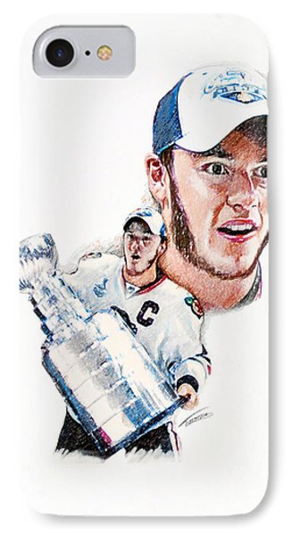 Jonathan Toews - The Season Phone Case by Jerry Tibstra