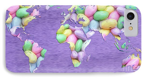 Jordan Almond World Painting IPhone Case by Andee Design