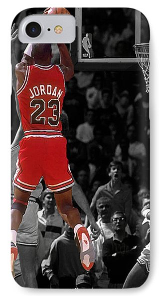 Jordan Buzzer Beater IPhone Case by Brian Reaves