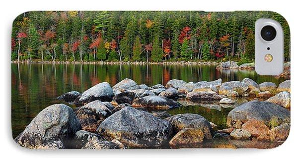 Jordan Pond In Evening Light In Autumn IPhone Case