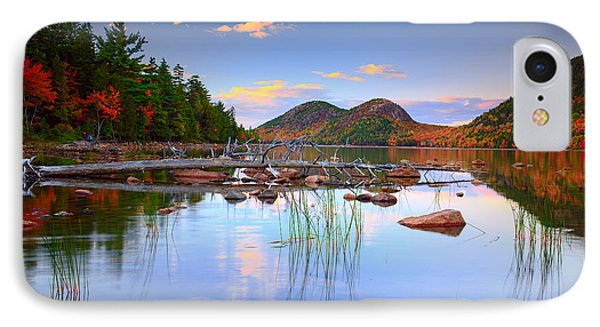 Jordan Pond In Fall IPhone Case by Emmanuel Panagiotakis