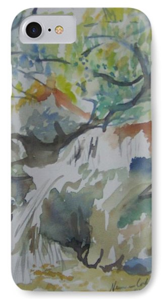 Jordan River Waterfall Phone Case by Esther Newman-Cohen