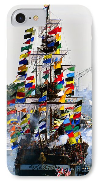 Jose Gasparilla Ship Work A IPhone Case by David Lee Thompson