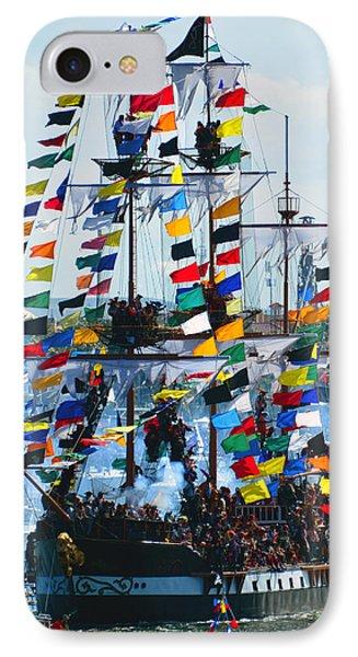 Jose Gasparilla Ship Work B IPhone Case by David Lee Thompson