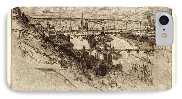 Joseph Pennell, Rouen, From Bon Secours, American IPhone Case