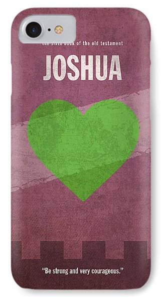 Joshua Books Of The Bible Series Old Testament Minimal Poster Art Number 6 IPhone Case by Design Turnpike