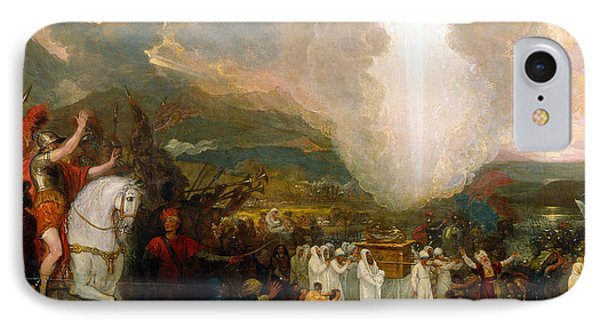 Joshua Passing The River Jordan With The Ark Of The Covenant IPhone Case by Benjamin West