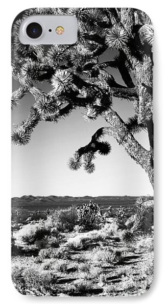 Joshua Tree Bw Phone Case by John Rizzuto
