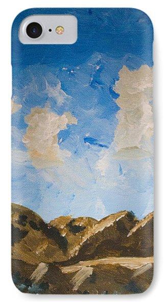 Joshua Tree National Park And Summer Clouds IPhone Case by Carolina Liechtenstein