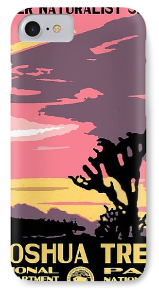 Joshua Tree National Park Vintage Poster IPhone Case by Eric Glaser