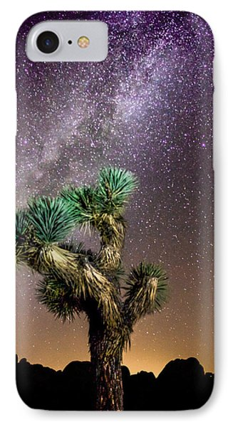 IPhone Case featuring the photograph Joshua Tree Vs The Milky Way by Robert  Aycock