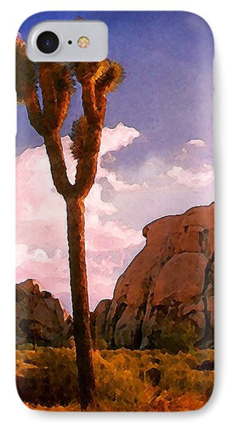 IPhone Case featuring the photograph Joshua Trees 2 by Timothy Bulone