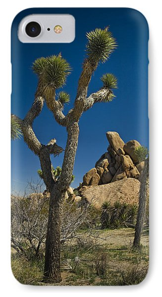 California Joshua Trees In Joshua Tree National Park By The Mojave Desert IPhone Case by Randall Nyhof