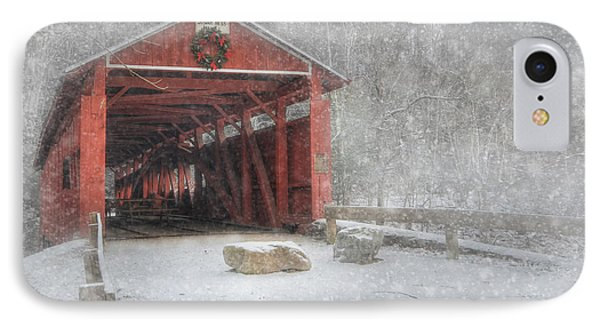 Josiah Hess Covered Bridge IPhone Case by Lori Deiter