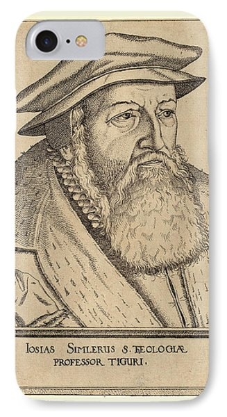 Jost Amman, Josias Simler, Swiss, 1539-1591 IPhone Case