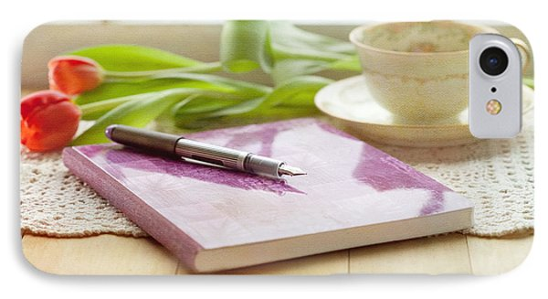 Journal And Coffee Phone Case by Kay Pickens