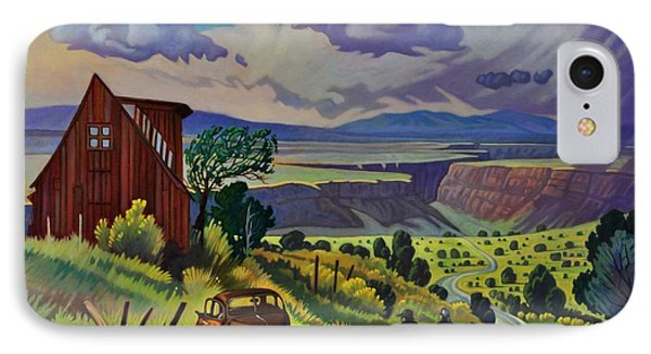 IPhone Case featuring the painting Journey Along The Road To Infinity by Art James West