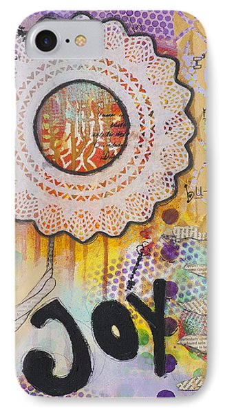 IPhone Case featuring the mixed media Joy And Smile Cheerful Inspirational Art by Stanka Vukelic